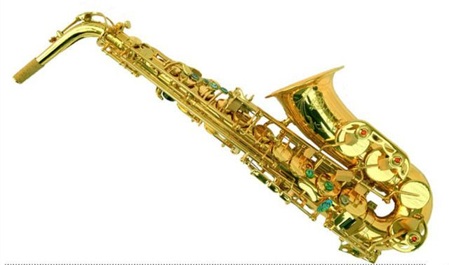 2017 NEW Big Promotion France Henri selmer saxophone alto profissional Reference 802 Gold Lacquer Sax Music Ups Free Shipping