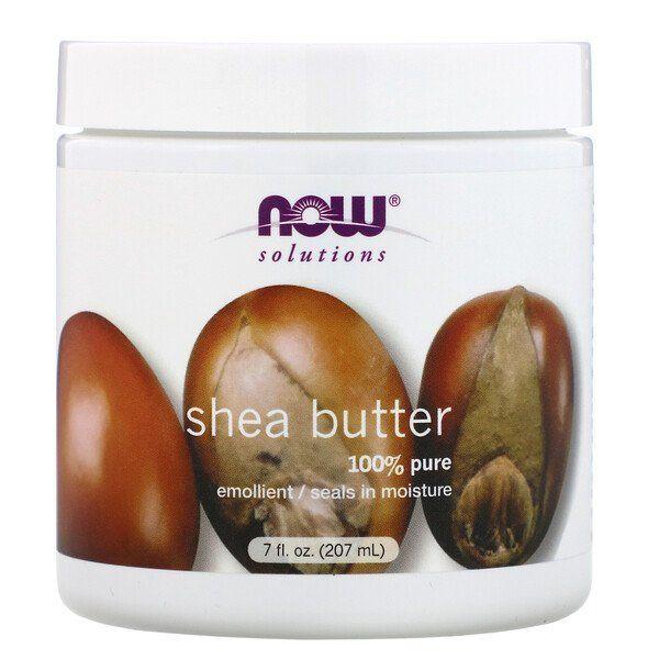 Now Foods محاليل زبدة الشيا 7 أونصة سائلة 207 مل Shea Butter Cream Shea Butter Emollient