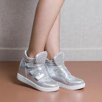 Sneakers dama Estinne argintii • modlet