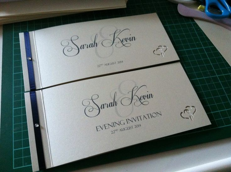 Luxury Personalised Cheque Book Wedding Invitations