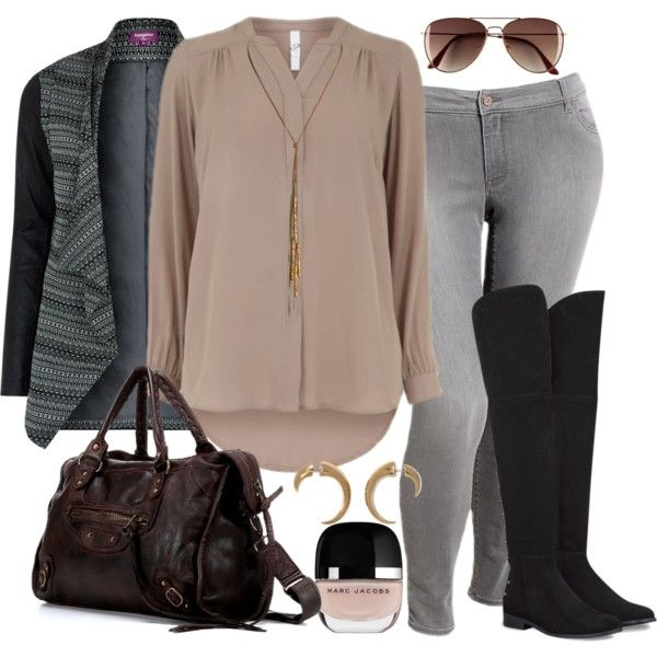 """#plus #size #outfit  """"Muted Winter - Plus Size"""" by alexawebb on Polyvore"""