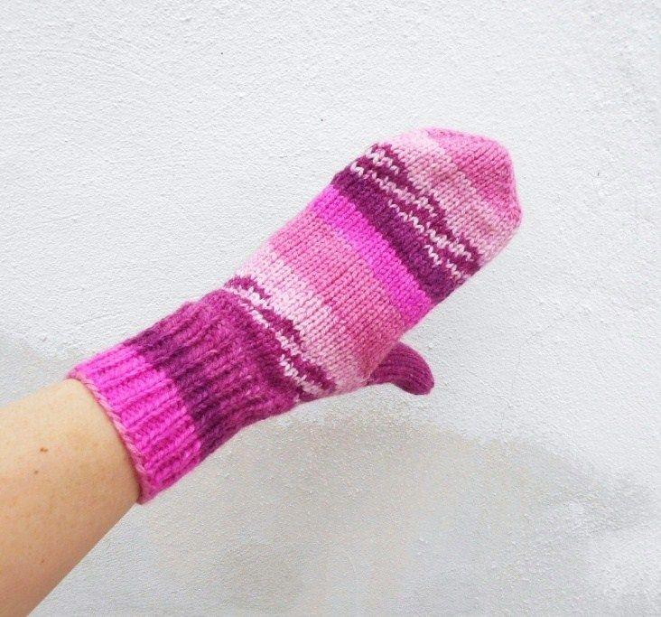 Dámské+palčáky+ručně+pletené+z+příjemné+akrylové+příze,+krásně+teplé,+pružné+delší+na+zápěstí+zaručeně+nekousavé