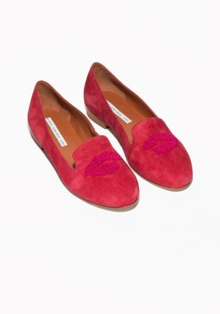 & Other Stories | Embellished Suede Slippers