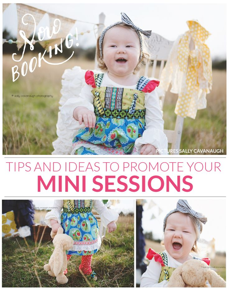 Tips and ideas to promote your mini sessions   Photoshop templates for photographers by Birdesign