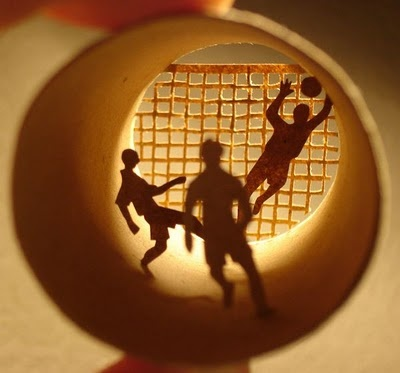 Soccer, made from tissue roll, Anastassia Elias.