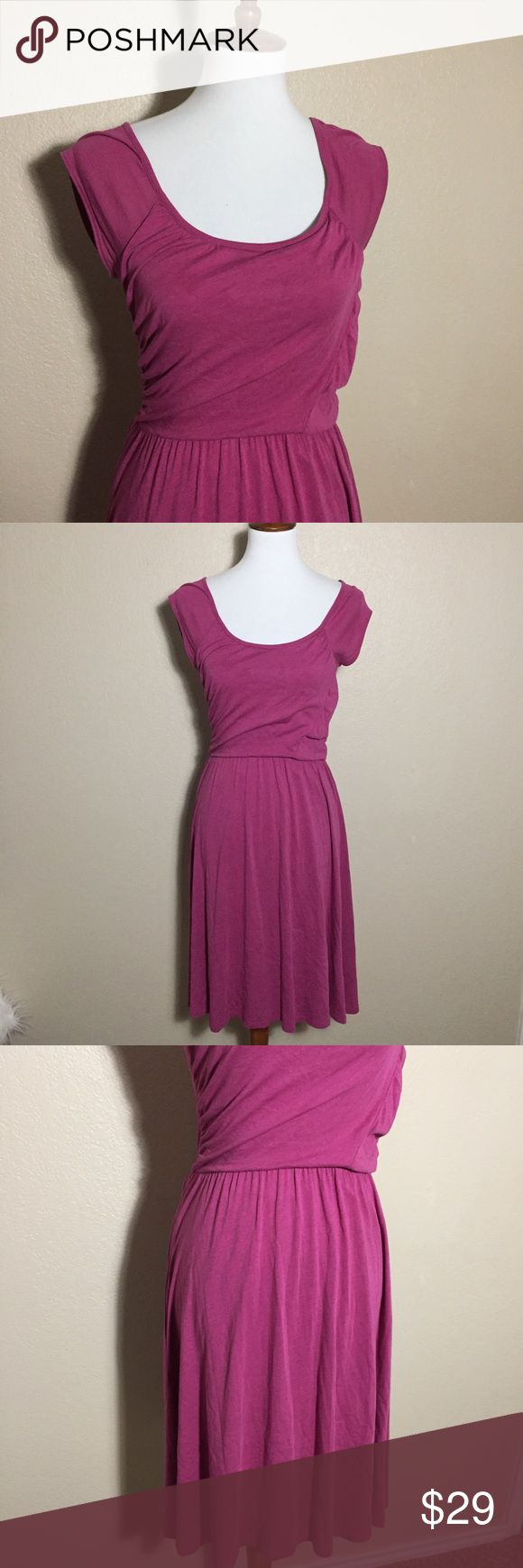 {Garnet Hill} Fuchsia Fit Flare Midi Length Dress Used in excellent condition. No Trades / No PayPal /  Smoke-Free Home / Ask Questions! / No Model Requests Please / Like what you see but dont like the price? MAKE ME AN OFFER! Garnet Hill Dresses Midi