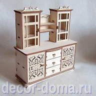 """Кукольная мебель """"Злата"""", шкаф-буфет 22 см"""