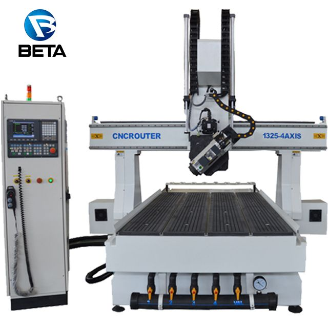 Factory sale! 4 axis cnc router engraver machine for aluminum wood furniture foam