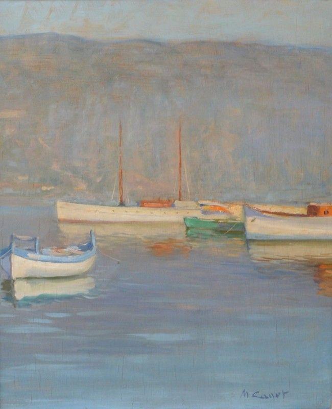 Marcel CANET Bateaux près d'Alger,