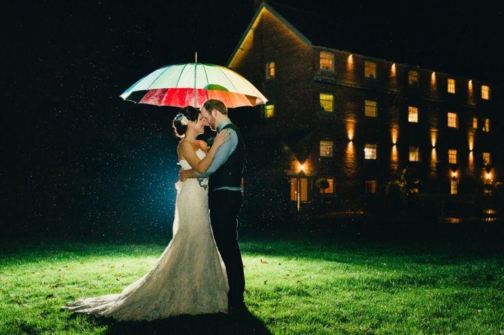 rainy wedding dorset