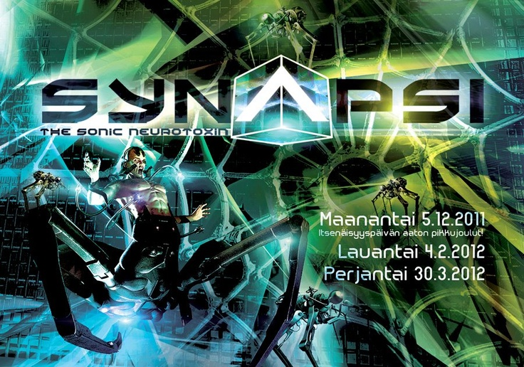 SYNAPSI is a regular club event concentrating on EBM-industrial-gothic-synth-darktrance-elektro-wave-music.