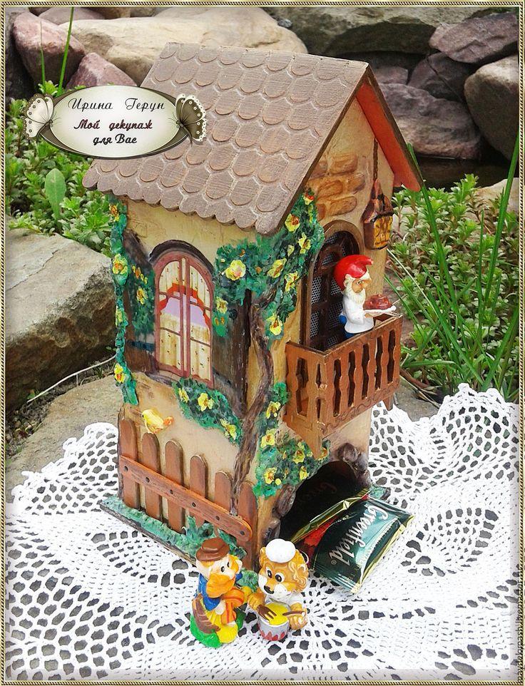 """Чайный домик """"Лето в деревне"""" - комбинированный, чайный домик, чайный домик декупаж  Tea houses and boxes handmade"""