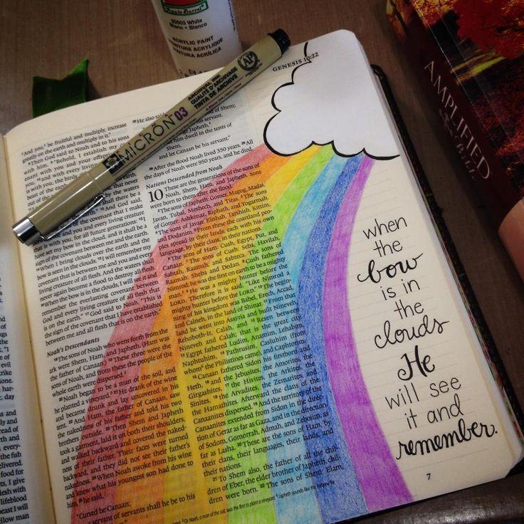 Created by: Diane Scott - Bible Journaling, Bible Art Journaling, Genesis