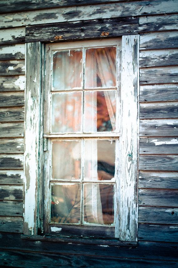 Rustic Window Photography Old Homestead Ghost Small Town