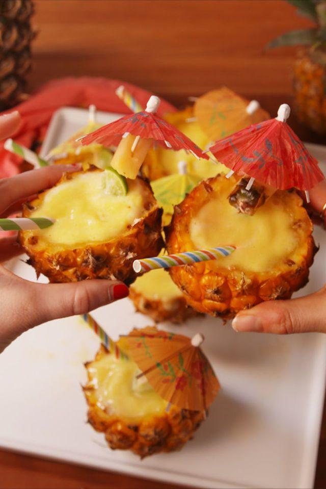 Frozen Pineapple Margaritas