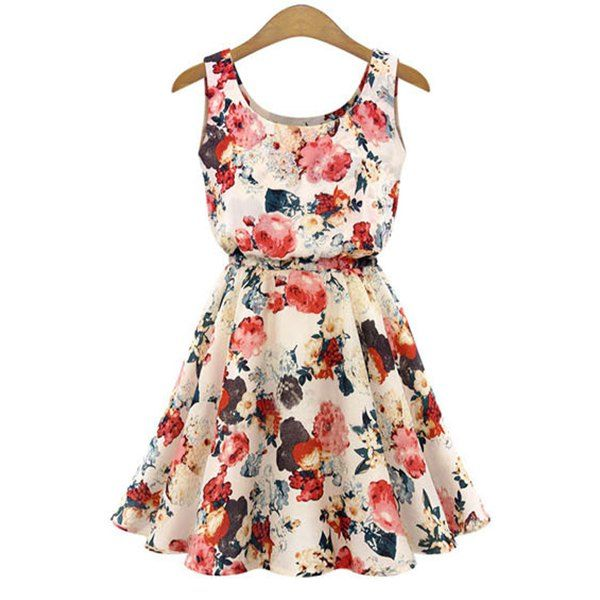 Cheap Sale 100% Guaranteed Only Floral Printed Sleeveless Dress Women Blue Sale Get Authentic Pre Order Cheap Price Outlet Pay With Paypal New Cheap Price qZaCM6SE