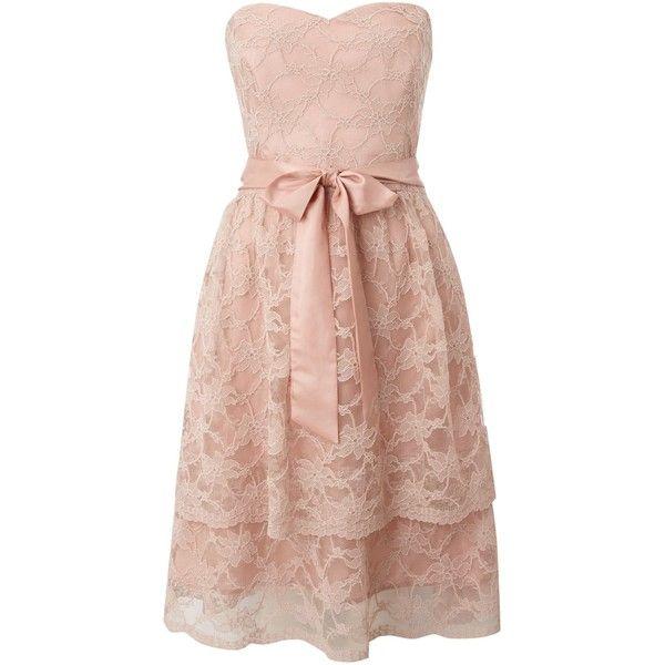Untold Strapless lace layered dress