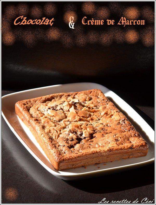 Brownie à la crème de marron et au chocolat