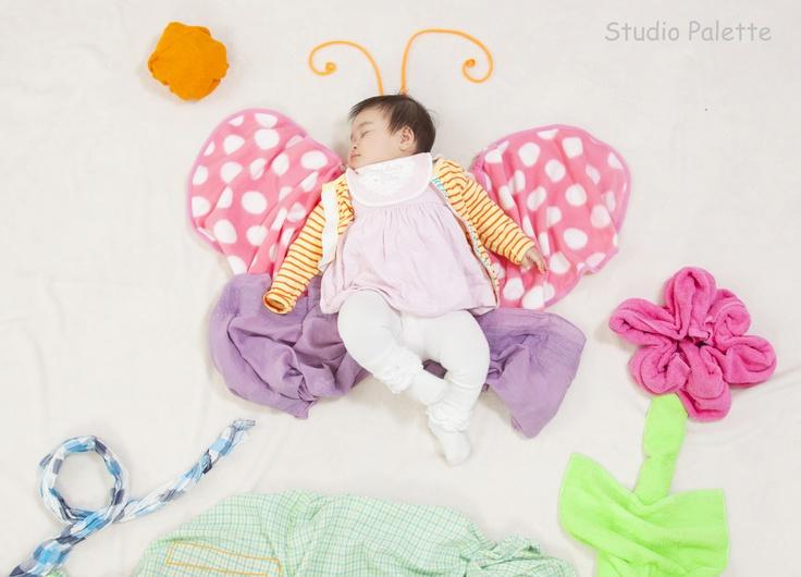 sleeping butterfly baby