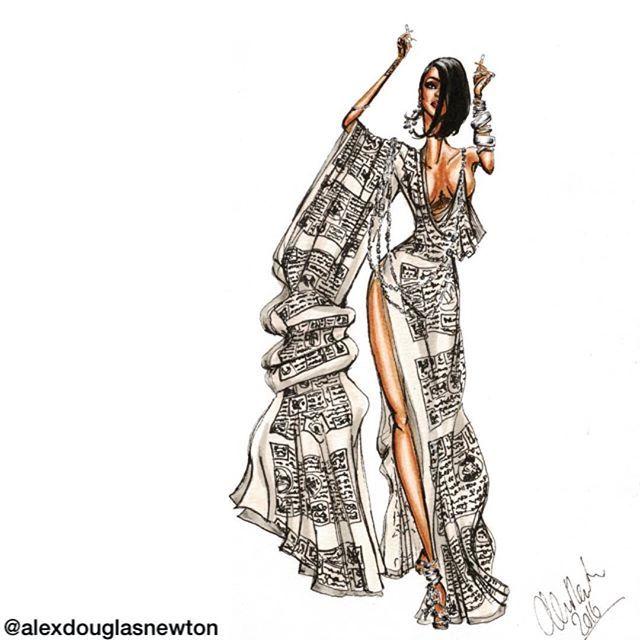 Rihanna in a dress of prayer flags with silver coin chains @badgalriri #rihanna #biascutdress #prayerflags #whiteprayerflags #bhutaneseprayerflags #prayerflagdress #whitegown #kimonosleeve #silvercoinjewelry #rihannadancing #rihannatattoo #chesttattoo