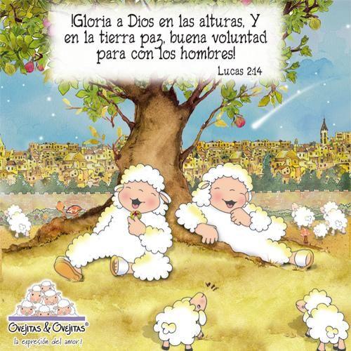 Lucas 2:14 ¡Gloria a Dios en las alturas, Y en la tierra paz, buena voluntad para con los hombres! ♔