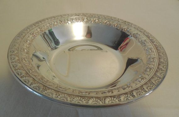 """/""""GORHAM/"""" silver plate bowl Silver on copper 6 1//2 across Top quality"""