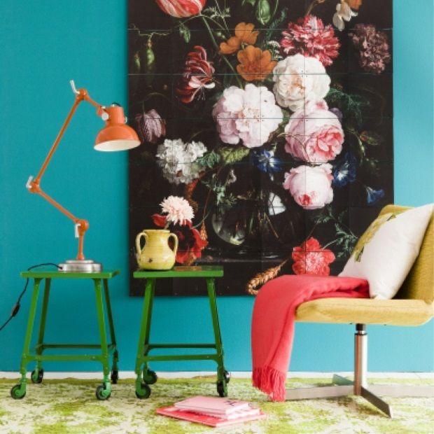 ixxi Muurdecoratie Still Life With Flowers - 80 x 120 cm - afbeelding 2
