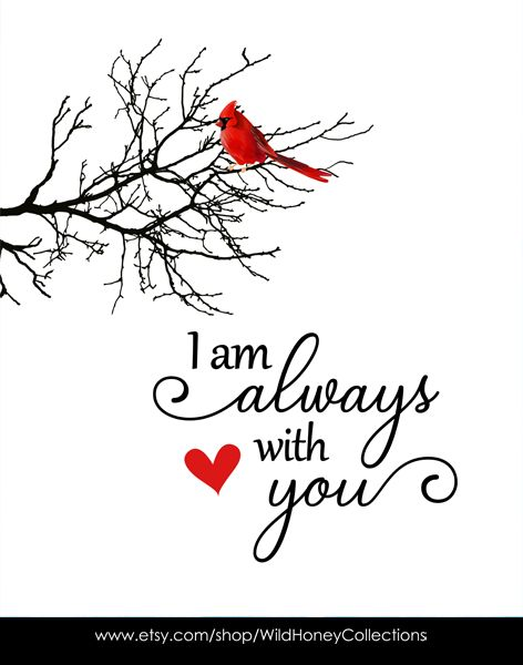 Download I Am Always With You Cardinal Red Bird Printable   Wall ...