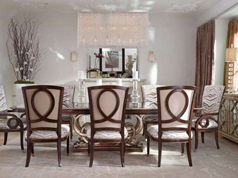 The Bossa Nova Dining Room Set From Marge Carson Carson1687 Is Perfect For Those Who