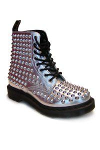 Dr. Martens - 8 eye - Silver with studs