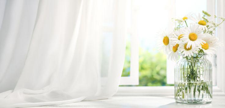Gardinen waschen: 4 Tipps für weiße Vorhänge