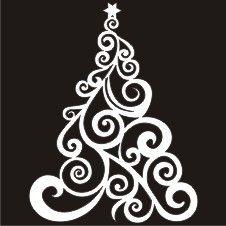 EN Christmas Elements: Small Swirly Christmas Tree