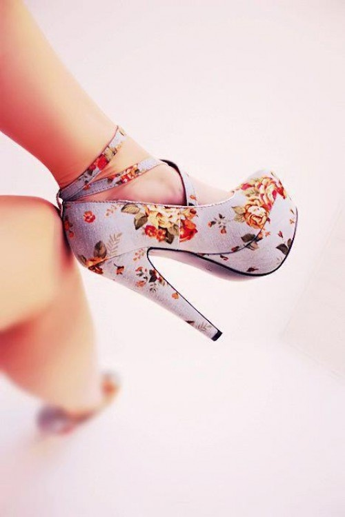Retro floral shoes.