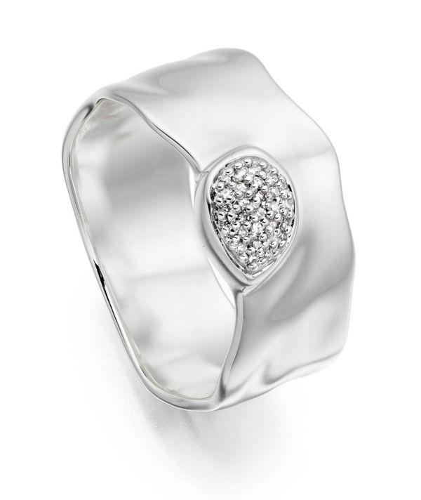 Siren+Diamond+Wide+Band+Ring
