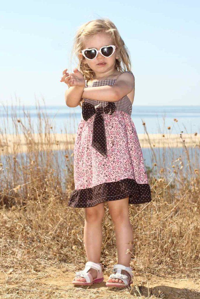 ALINA bow dress sewing pattern - sizes 6 mo-4/5 yr ~ Zierstoff