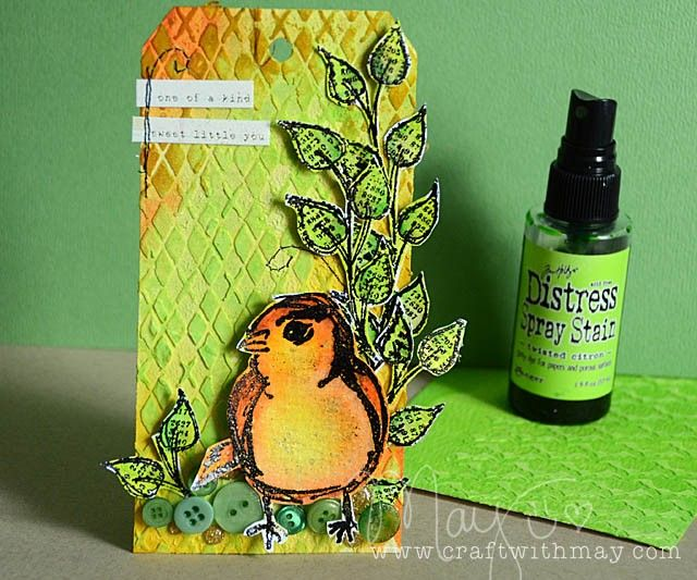 Fun Creation by May for the Simon Says Stamp Monday challenge (Citrus with a Twist)