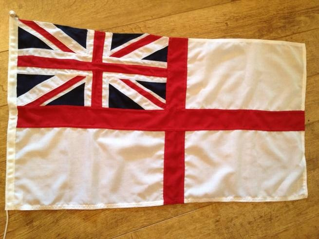 Our rather handsome White Ensign