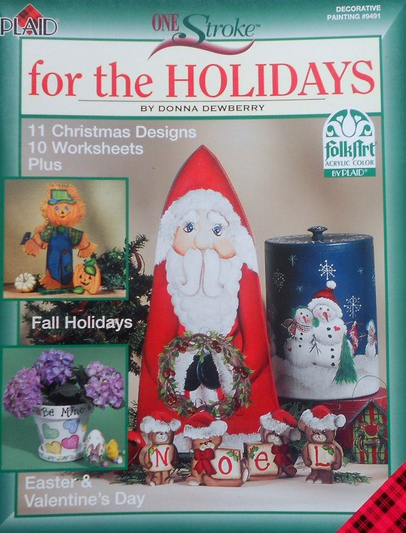 Plaid Donna Dewberry One Stroke FOR THE HOLIDAYS Tole Decorative Painting Project Book on Etsy, $9.75