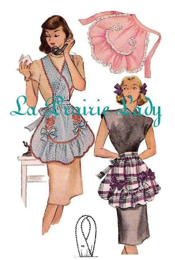 NZD 6.88 Vintage Full Apron 40s on Printable PDF Bust M: 34-36  Bust L: 38-40  Bust XL: 42-44    You get all sizes    Instructions included    Payment
