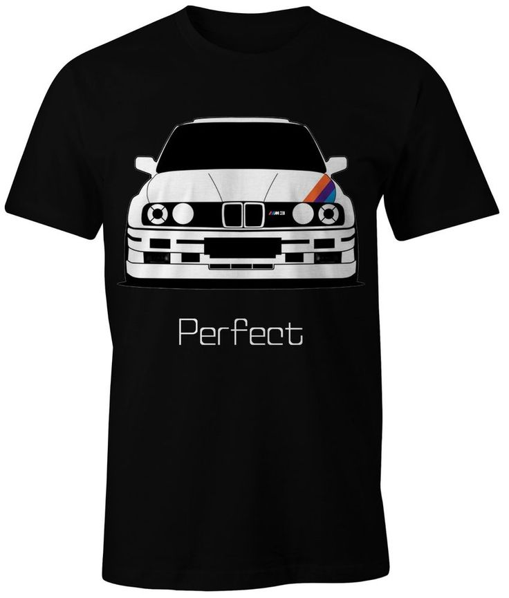 New t shirt bmw m power m3 e30 perfect on white black and for Perfect black t shirt