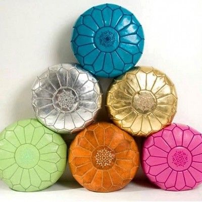 Moroccan Leather poufs | Love Moroccan Rugs