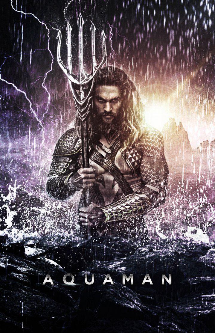 aquaman jason momoa | Jason Momoa as Aquaman - Poster (2016) by CAMW1N on DeviantArt