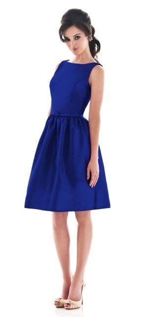 Royal blue dress...