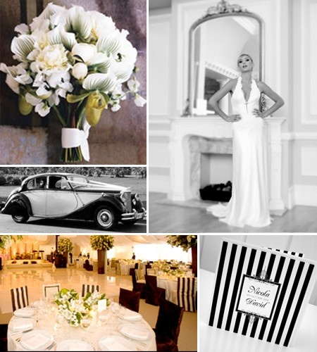 I Love a Black and White Stripe Themed Wedding...