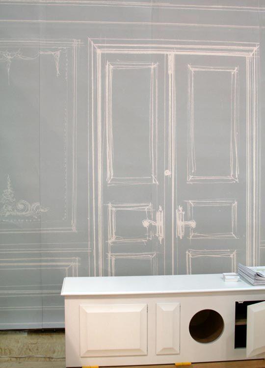 Icff 2008 trompe l 39 il ghost wallpaper therapy lotus and apartment therapy - Wallpaper trompe houtlook ...
