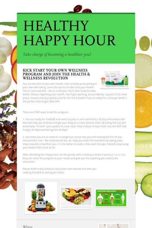Arbonne Nutrition - Healthy Happy Hour - Four Pillars  Healthy Happy Hour