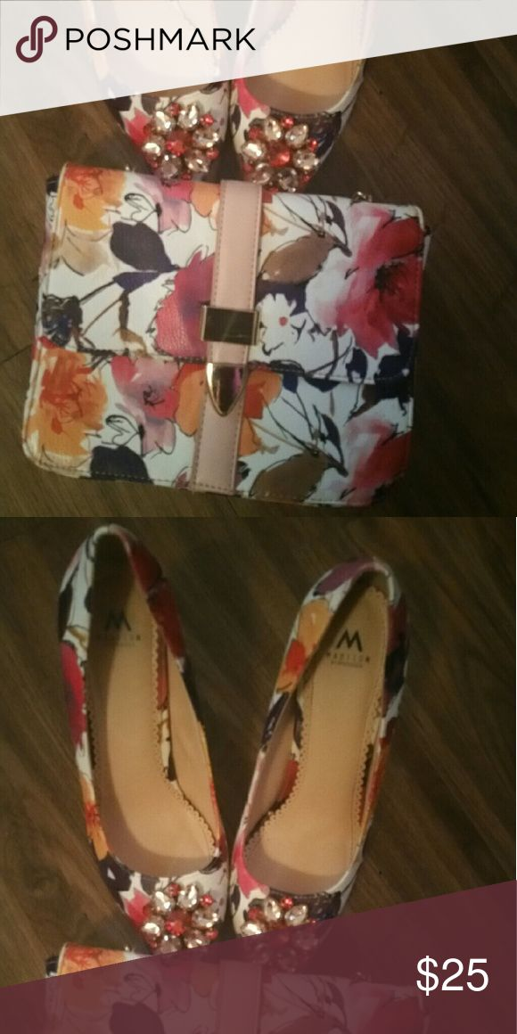 Bag and matching shoes Both from shoe dazzle shoes are a 9.5 from a smoke free home Shoe Dazzle Shoes Heels