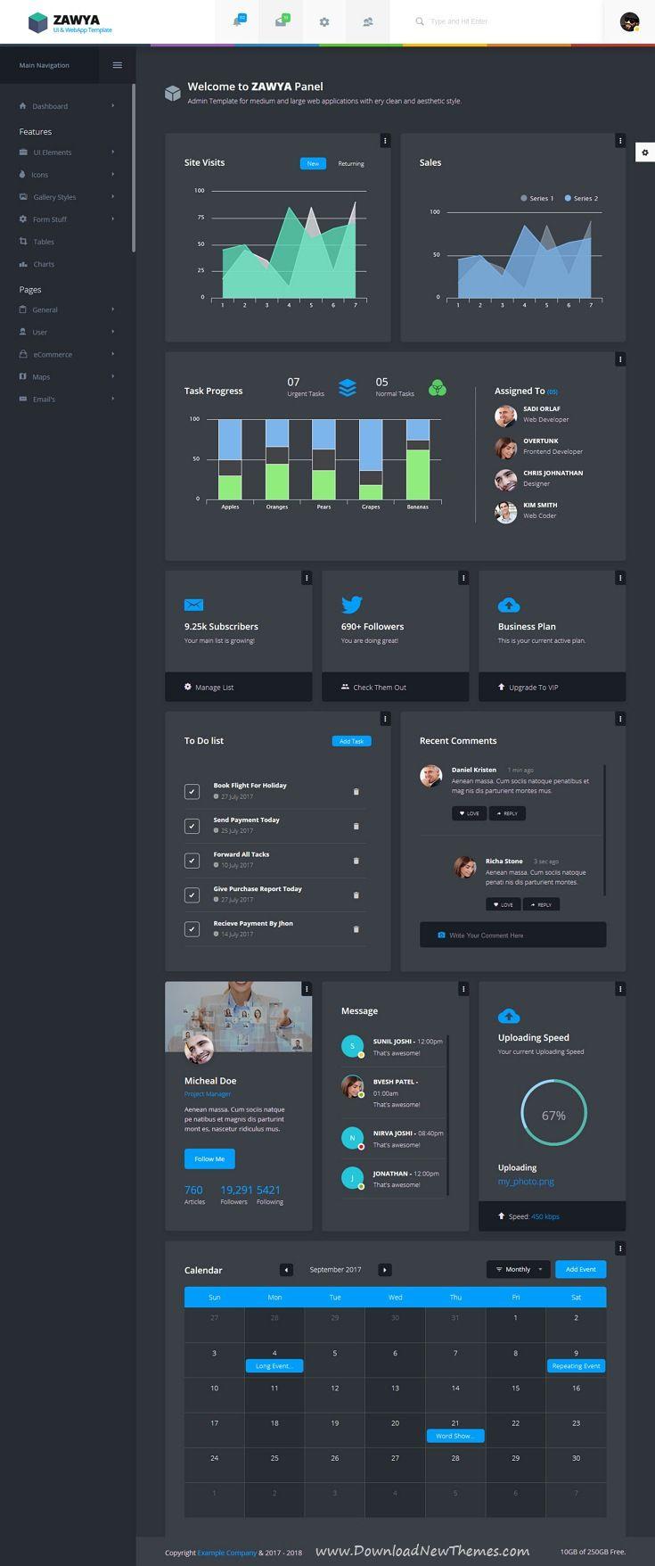 Comfortable Website Dashboard Templates Contemporary - Examples ...