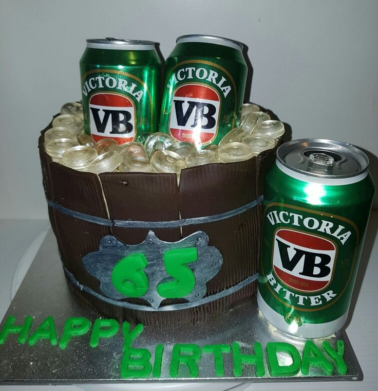 VB beer barrel cake
