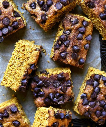 Pumpkin-Chocolate Chip Cake | Your favorite spice came early this year! In the spirit of all things pumpkin spice we rounded up some tasty options to celebrate an early fall.